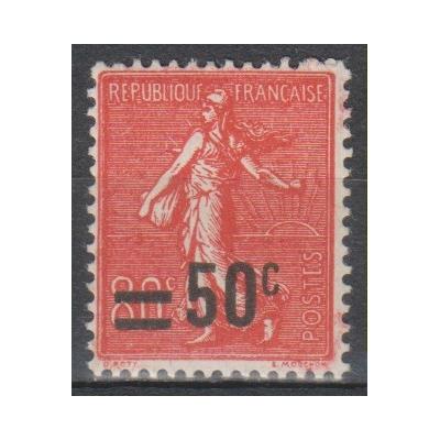 France - Semeuse surchargée - yt.220 neuf * - Cote €1.40