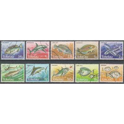 Tokelau - Poissons - yt.108/17 de 1984 - cote €9
