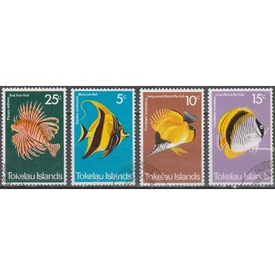 Tokelau - Poissons - yt.45/48 de 1975 - Cote €15