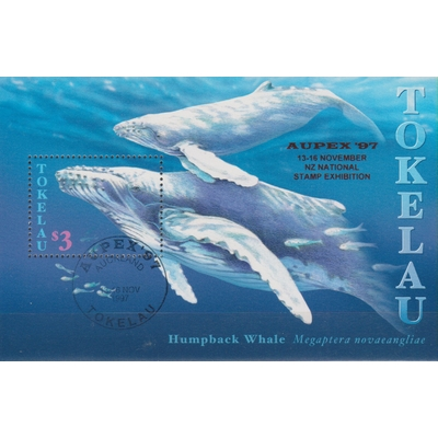 Tokelau - Baleine - Feuillet surchargé de 1997