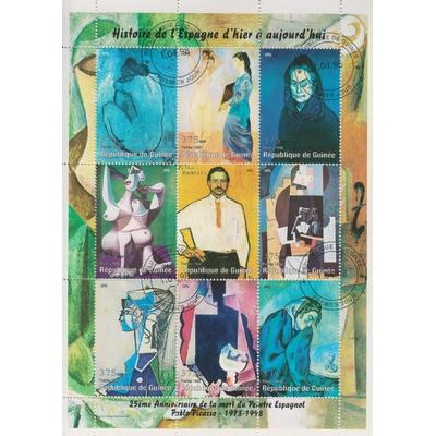 Guinée - Tableaux de Picasso - Feuillet de 1998
