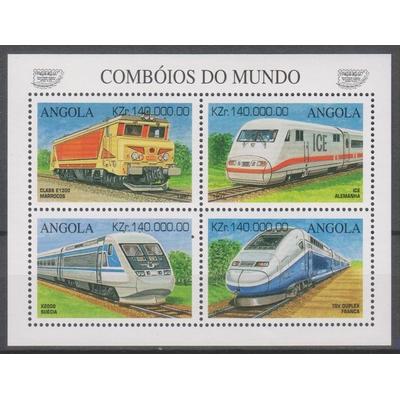 Angola - Trains - yt.1067/70 neufs ** - cote €7