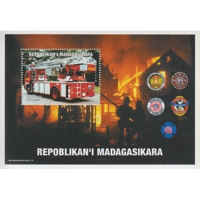 Madagascar - Pompiers - Feuillet neuf **