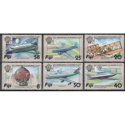Fidji - Aviation - yt.482/87 neufs ** - Cote €9