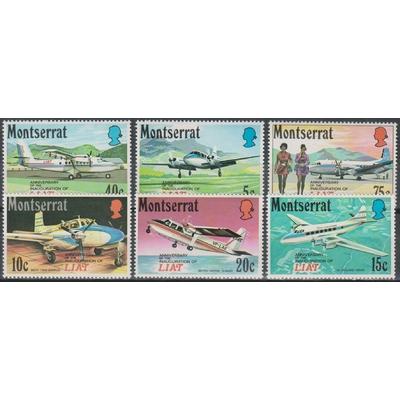 Montserrat - Aviation - yt.268/73 neufs ** - Cote €9