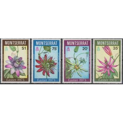 Montserrat - Fleurs - yt.288/91 neufs ** - Cote €10