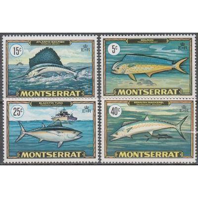 Montserrat - Poissons - yt.220/23 neufs ** - Cote €4