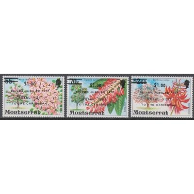 Montserrat - Fleurs surchargés - yt.375/77 neufs ** - Cote €3