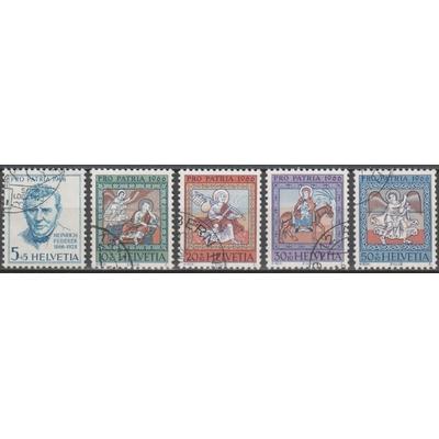 Suisse - Pro patria - yt.769/73 de 1966 - cote €2
