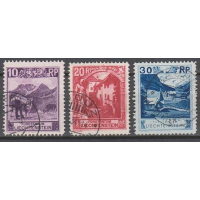 Liechtenstein - Série courante - yt.96+97+99 de 1930 - Cote €8