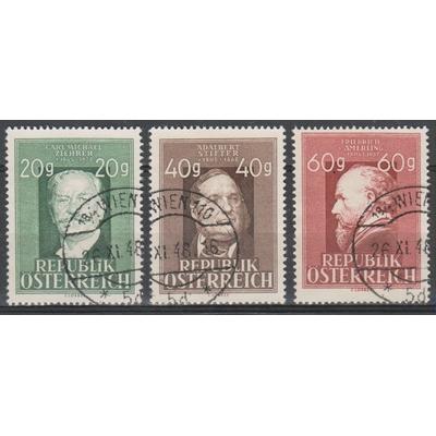 Autriche - Anniversaires - yt.694/95 de 1948 - Cote €7.50