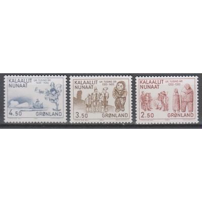 Groenland - Histoire - yt.131/33 neufs ** - Cote €4.50