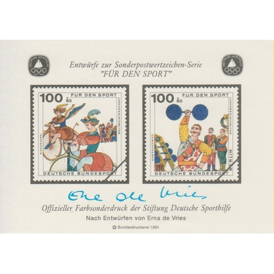 Allemagne - Cirque - Feuillet avec signature autographe - Neuf **