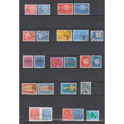 Europa - Petit lot de séries complètes Europa de Suisse - Cote €10.75