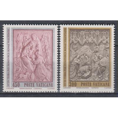 Vatican - Noël - yt.737/38 neufs ** - Cote €1,50