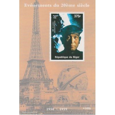 Niger - Cinéma - Feuillet neuf ** de 1998