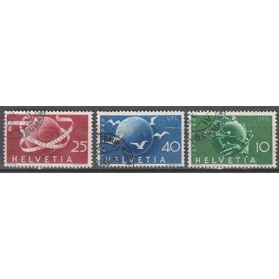 Suisse - UPU - yt.474/46 oblitérés - Cote €14