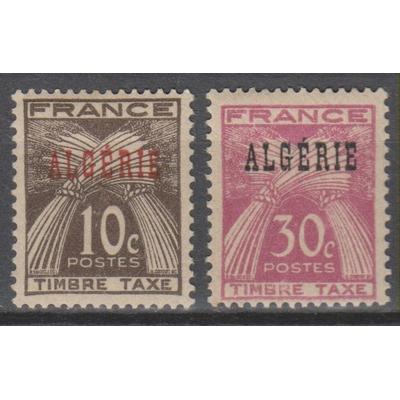 Algérie - Taxe - yt.T33/34 neufs ** - Cote €1