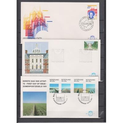 Pays-Bas - Collection complète de FDC de 1981 (4 photos)