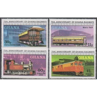 Ghana - Chemin de fer - yt.638/41 neufs ** - Cote €9