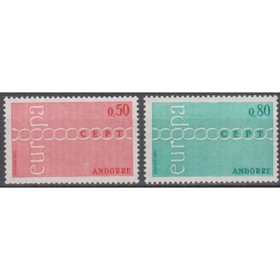 Andorre - Europa - yt.212/13 neufs ** - Cote €50
