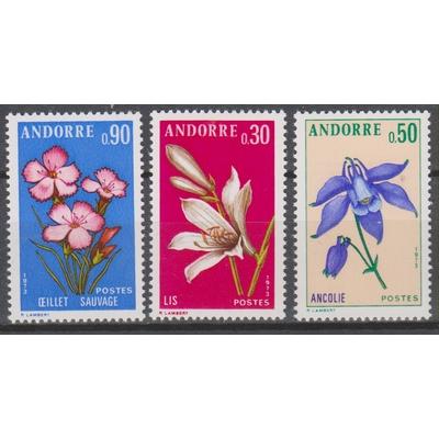 Andorre - Fleurs - yt.229/31 neufs ** - Cote €3.25