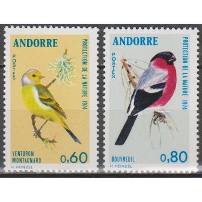 Andorre - Oiseaux - yt.240/41 neufs ** - Cote €9
