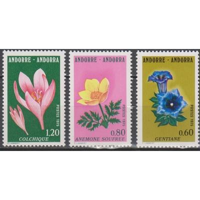 Andorre - Fleurs - yt.245/47 neufs ** - Cote €3.20