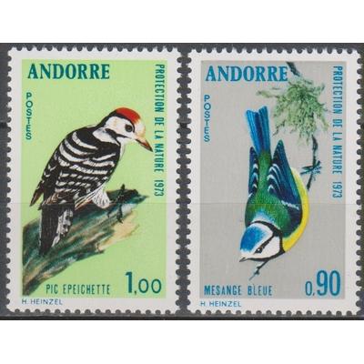 Andorre - Oiseaux - yt.232/33 neufs ** - Cote €5.60