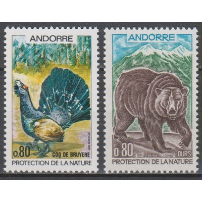 Andorre - Animaux - yt.210/11 neufs ** - cote €10.50