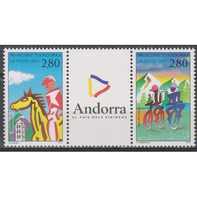 Andorre - sports - yt.450A neufs ** - Cote €3.50