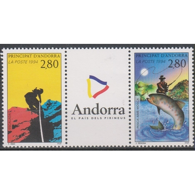 Andorre - sports - yt.450B neufs ** - Cote €3.50