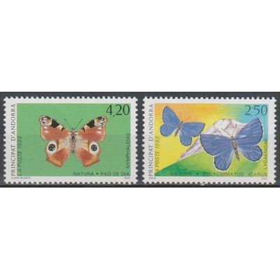 Andorre - Papillons - yt.432/33 neufs ** - Cote €4,20