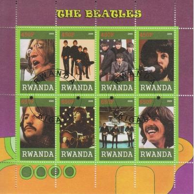 Rwanda - The Beatles - Feuillet de 2009