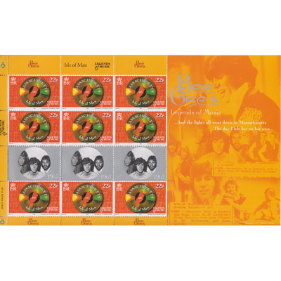 Ile de Man - Bee Gees - Feuillet neuf ** de 1999 - Cote €9.90