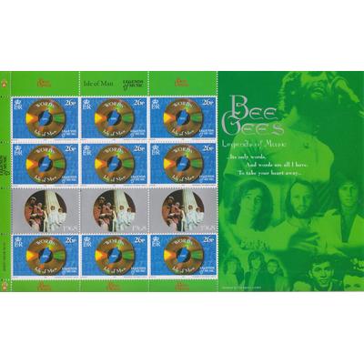Ile de Man - Bee Gees - Feuillet neuf ** de 1999 - Cote €11.70