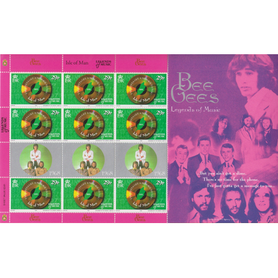 Ile de Man - Bee Gees - Feuillet neuf ** de 1999 - Cote €13.50