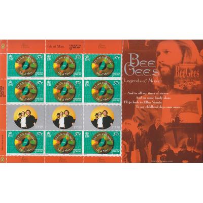 Ile de Man - Bee Gees - Feuillet neuf ** de 1999 - Cote €16.65
