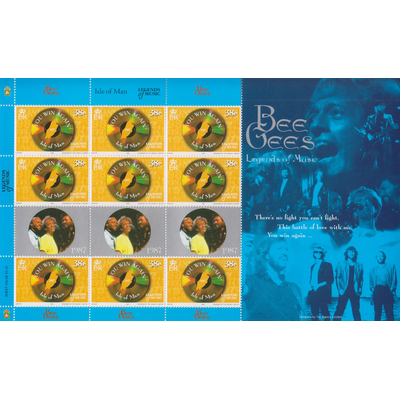 Ile de Man - Bee Gees - Feuillet neuf ** de 1999 - Cote €18