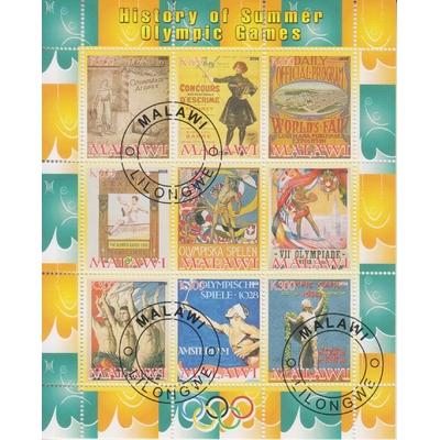 Malawi - Jeux Olympiques - Feuillet de 2008