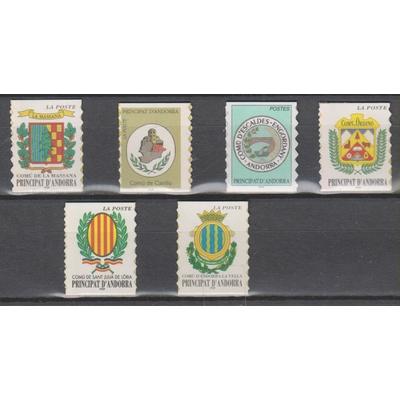 Andorre - Armoiries - ex-carnets autocollants - neufs ** - Cote €12.60