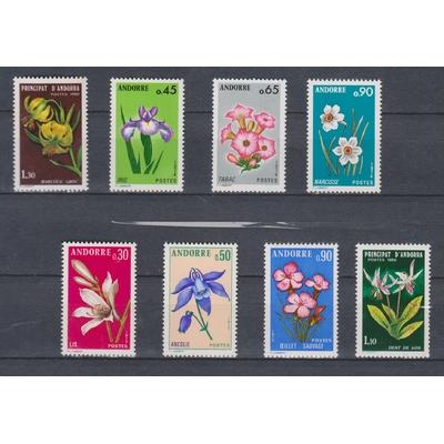 Andorre - Fleurs - 3 séries neuves ** - Cote €7.50