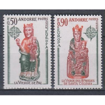Andorre - Europa de 1974 - yt.237/38 neufs ** - Cote €55