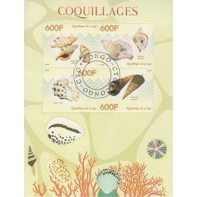 Congo - Coquillages - Feuillet de 2014