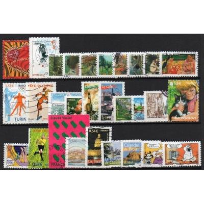 France - Collection de timbres oblitérés de 2006 (2 photos) - Cote €39