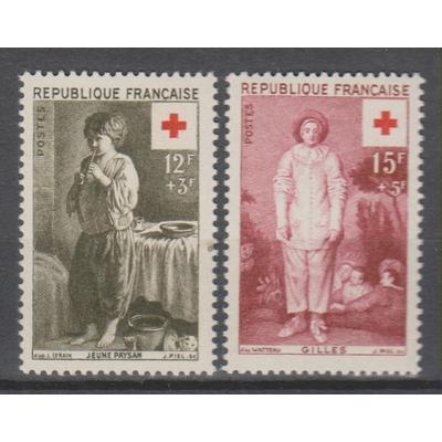 France - Croix Rouge - yt.1089/90 neufs ** - Cote €7,10
