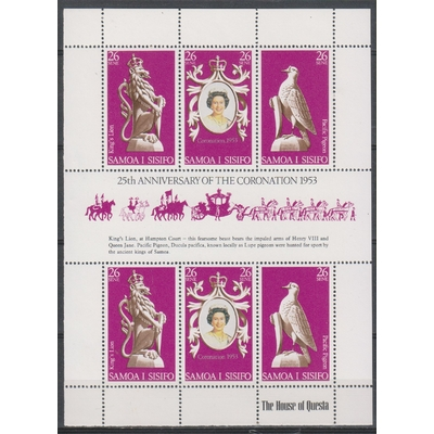 Samoa - elizabeth II - Feuillet neuf ** - Cote €4