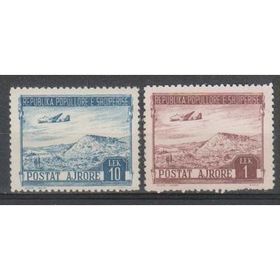 Albanie - Aviation - yt.A48+A45 neufs ** - Cote €9.80
