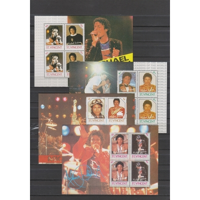 Saint Vincent - Michael Jackson yvert BF19-22 - Cote €26