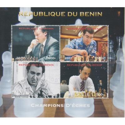 Bénin - Echecs - Feuillet de 2011
